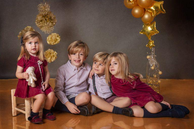 Sesión fotos Navidad estudio fotográfico Marina de Oteo