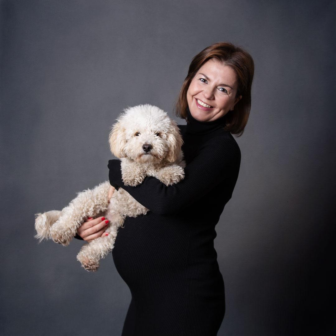 Sesión fotos Embarazada estudio fotográfico Marina de Oteo